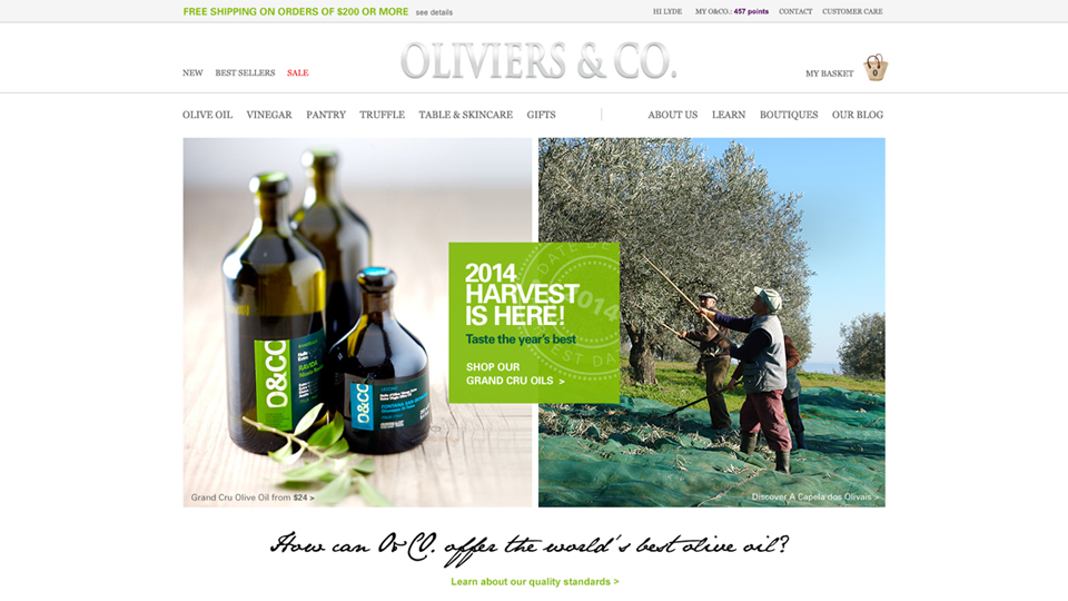 netamorphosis | Oliviers & Co. - Website Homepage