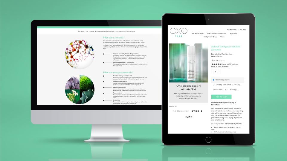 netamorphosis | Exoceuticals - Website Responsive