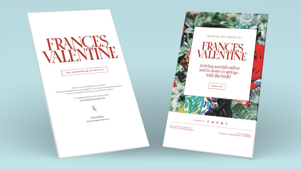 netamorphosis | Frances Valentine - Email List