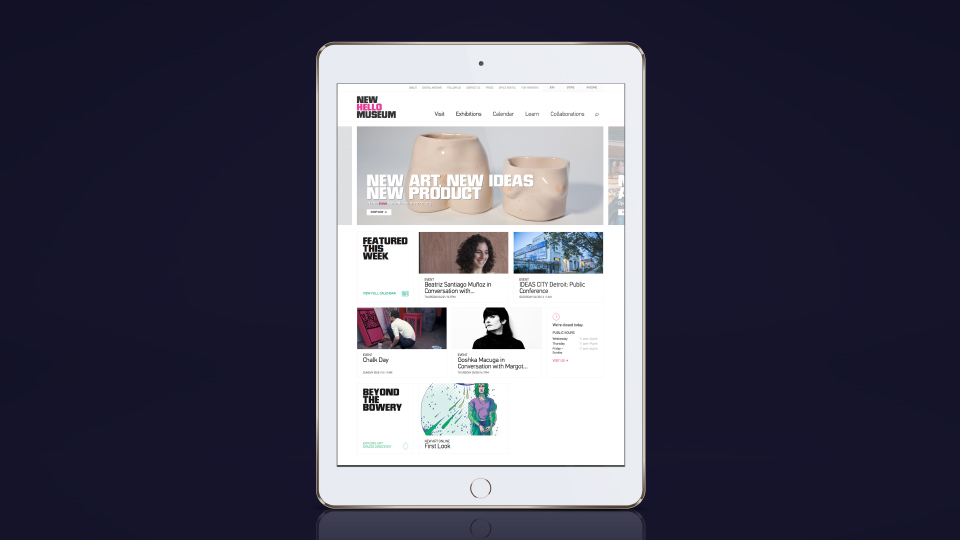 netamorphosis | New Museum - Website Tablet