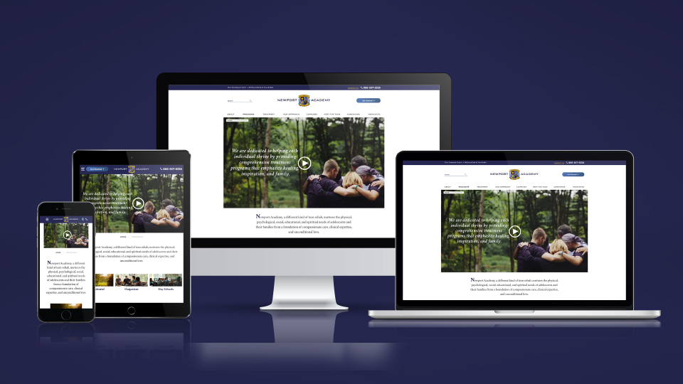 netamorphosis | Newport Academy - Website Responsive